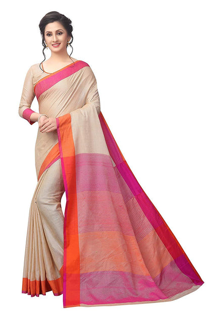 Flaray Women's Linen Saree With Blouse Piece - iZiffy.com