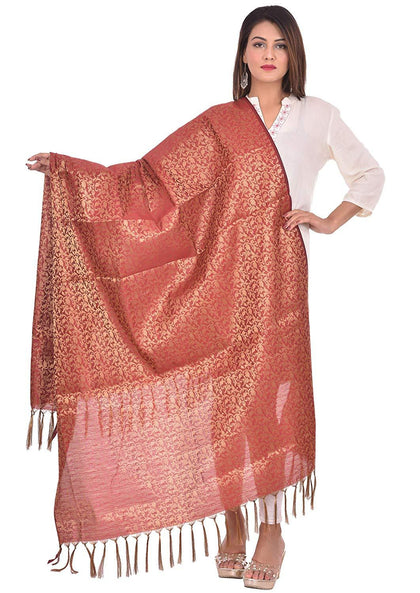 Flaray Women's Art Silk Zari Dupatta