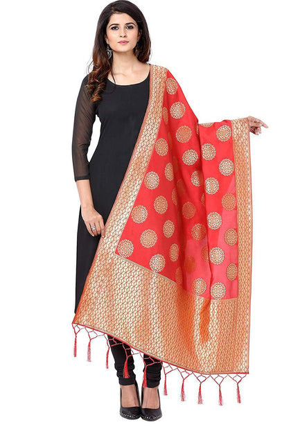Flaray Women's Banarasi Silk Dupatta