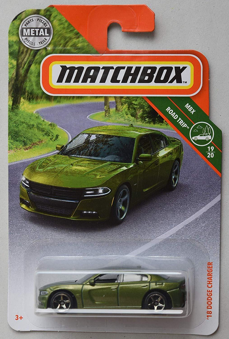 Matchbox Road Trip Series, Green '18 Dodge Charger 19/20 - iZiffy.com