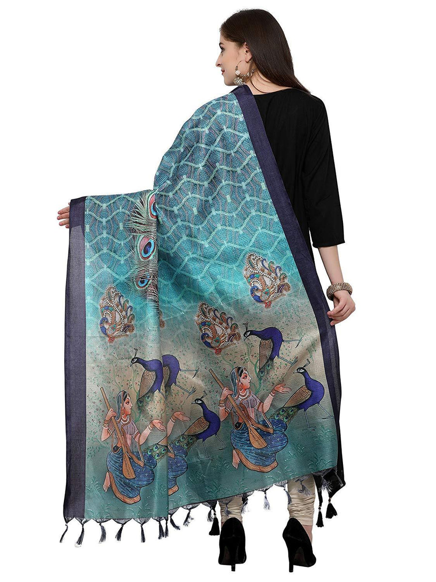 Flaray Women's Khadi Silk Dupatta - iZiffy.com