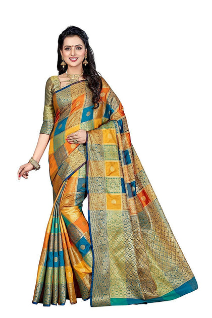 Flaray Banarasi Patola silk sarees for women (Color_Multi)