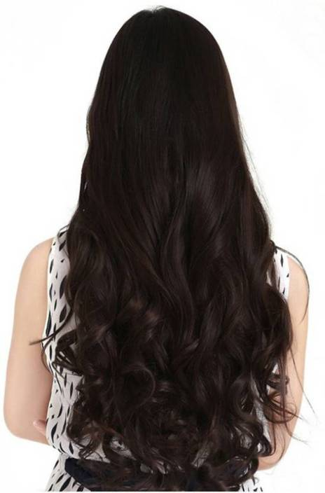 D-DIVINE Clip in wavy brown Hair Extension - iZiffy.com