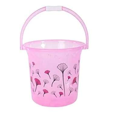 Bestie Classical Unbreakable Strong Plastic Bathroom Bucket with Mug 17 L - iZiffy.com