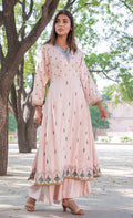 Modal Cotton Embroidered Kurti Sharara - iZiffy.com
