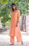 Peachy Embroidered Kurti - Straight Fit - iZiffy.com