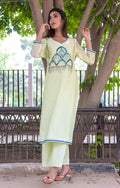 Lime green Solid Coloured Plain Kurti - iZiffy.com