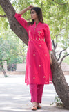 Cotton Gota Pati Kurti - Pink - iZiffy.com