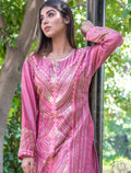 Mix Coloured Chanderi Designed Kurti - iZiffy.com