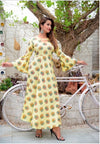 Beautiful Bandhani Print Indian Women Kurti-YELLOW - iZiffy.com