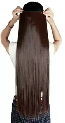 D-DIVINE Soft Synthetic Clip in  Extension Hair Extension - iZiffy.com
