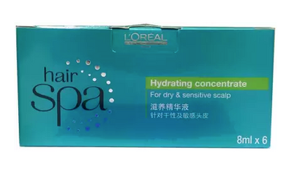 L'Oreal Professionnel L'Oreal Professionnel Hair Spa Hydrating Concentrate Hair Scalp Treatment Serum 8 ml Pack of 6  (8 ml)