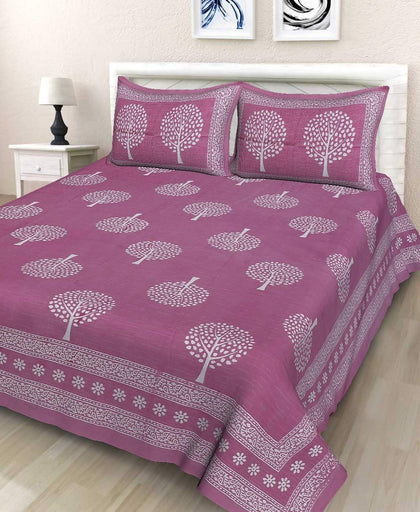 jaipuri Cotton Double BedSheet with 2 Pillow Covers Set - iZiffy.com