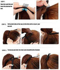 Blushia Natural feel Black Ribbon Ponytail Hair Extension - iZiffy.com