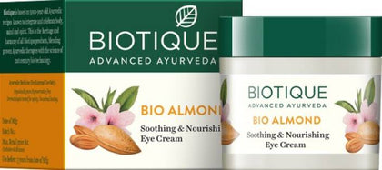 Biotique Biotique Bio Almond Soothing & Nourishing Eye Cream  (15 g) - iZiffy.com
