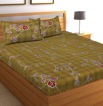 Jaipuri Cotton Double Bedsheet with 2 Pillow Covers - iZiffy.com