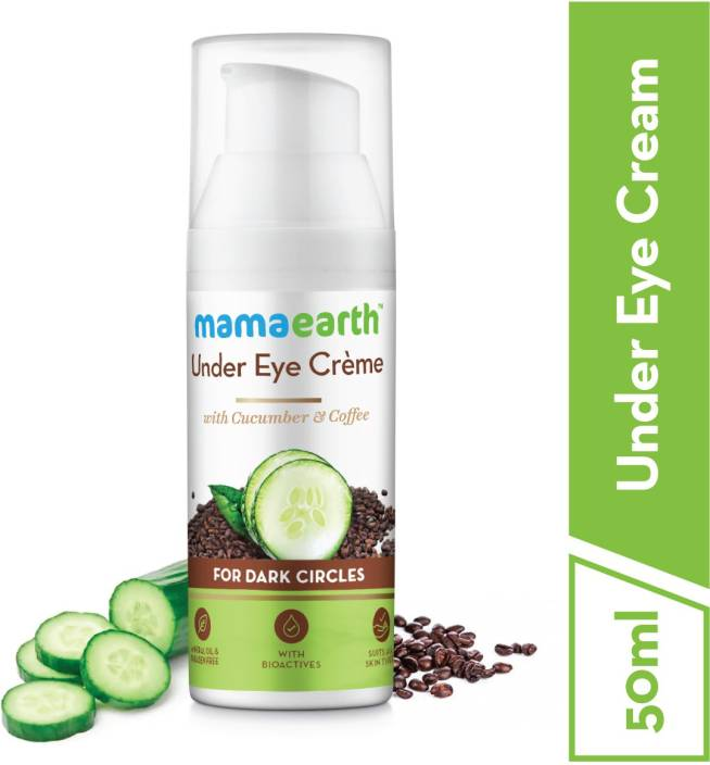 Mamaearth Natural Under Eye Cream for Dark Circles & Wrinkles with Coffee & Cucumber  (50 ml) - iZiffy.com