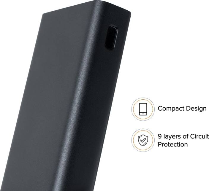 Mi 20000 mAh Power Bank (Fast Charging, 18 W)  (Black, Lithium Polymer) - iZiffy.com