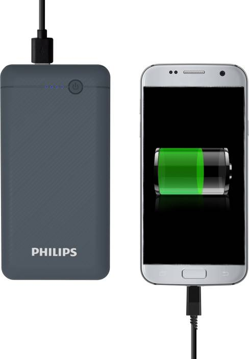 Philips 10000 mAh Power Bank (Fast Charging, 10 W)  (Blue, Lithium Polymer) - iZiffy.com