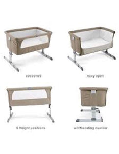 chicco next2me crib- dove grey