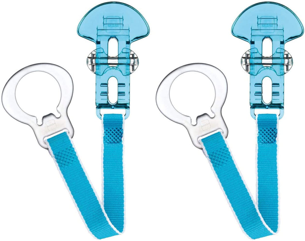 mam - clip double set - clear blue
