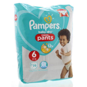 pampers baby dry nappy pants 6 (15+kgs/33+lbs)
