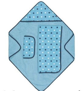 mothercare blue cuddle 'n' dry towels - 3 pack
