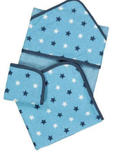 Load image into Gallery viewer, mothercare blue cuddle 'n' dry towels - 3 pack