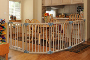 clippasafe - wooden playpen gate