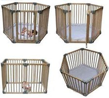 Load image into Gallery viewer, clippasafe - wooden playpen gate