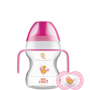 mam learn to drink cup pink bird - 190ml