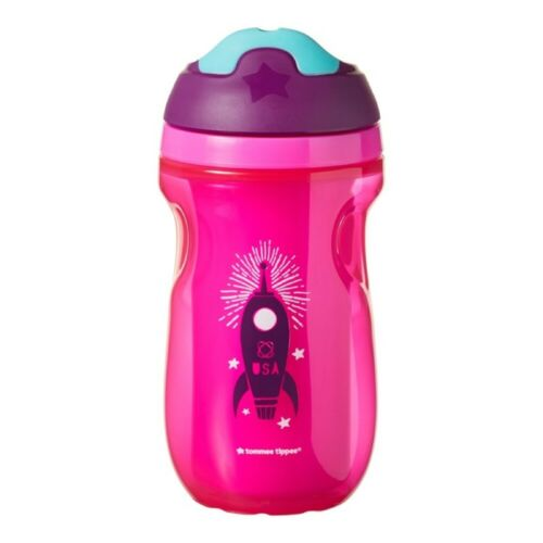 tommee tippee training sippee cup: 12m+ - pink space ship