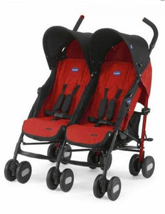 chicco echo twin double pushchair - garnet