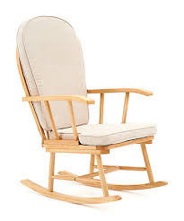 mothercare rocking chair with cream cushion - natural