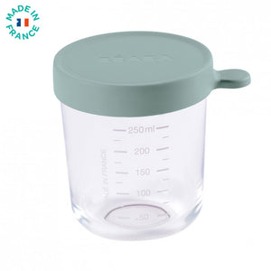 beaba - 250 ml conservation jar in superior quality glass eucalyptus green