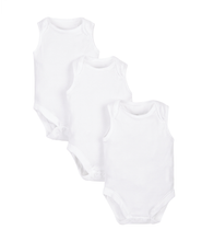 Load image into Gallery viewer, my first sleeveless bodysuits - 3 pack