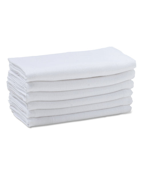 mothercare white muslins - 6 pack