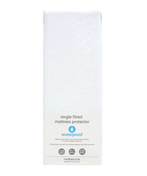mothercare fitted single mattress protector