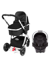 Load image into Gallery viewer, mothercare 4-wheel journey chrome travel system - black