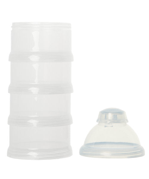 mothercare stacking milk powder dispenser - clear 4 pack