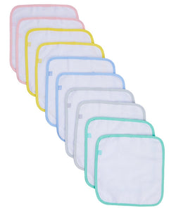 mothercare flannel with colour binding - 10 piece