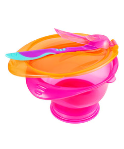 mothercare twist & lock suction bowl set - pink