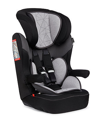 mothercare advance XP booster car seat - black and grey