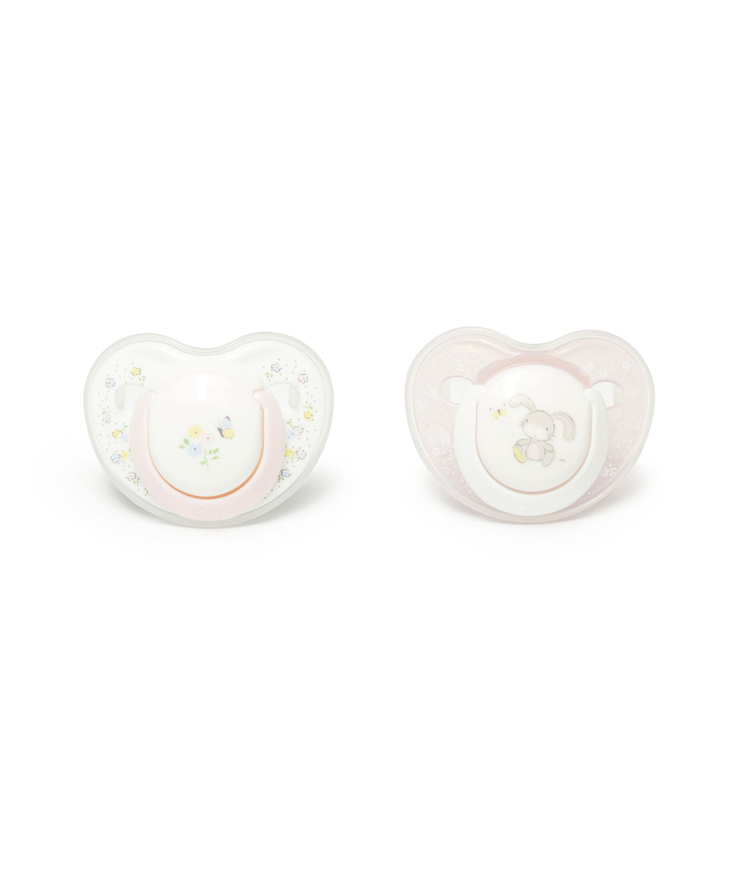 mothercare 0-6m orthodontic soothers 2 pack - bunny
