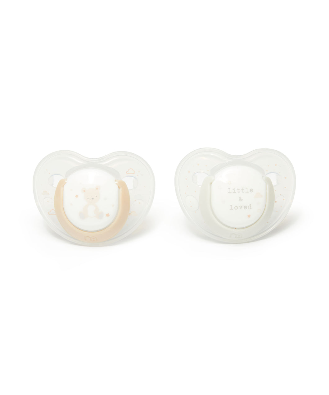 mothercare 0-6m orthodontic soothers 2 pack - teddy
