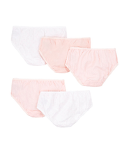Load image into Gallery viewer, pink and white briefs - 5 pack