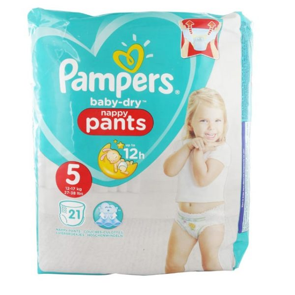pampers baby dry nappy pants (12-17kgs/27-38lbs)