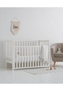 mothercare west cliff dropside cot - white
