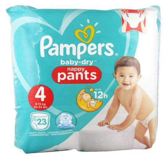 pampers baby dry nappy pants (9-15kgs/20-33lbs)