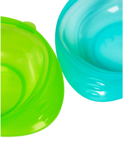 mothercare first tastes weaning bowls - blue 2 pack